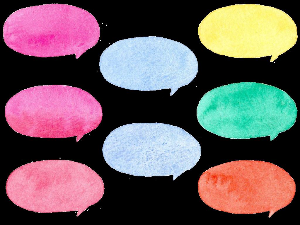水彩で描いた吹き出しのイラスト
