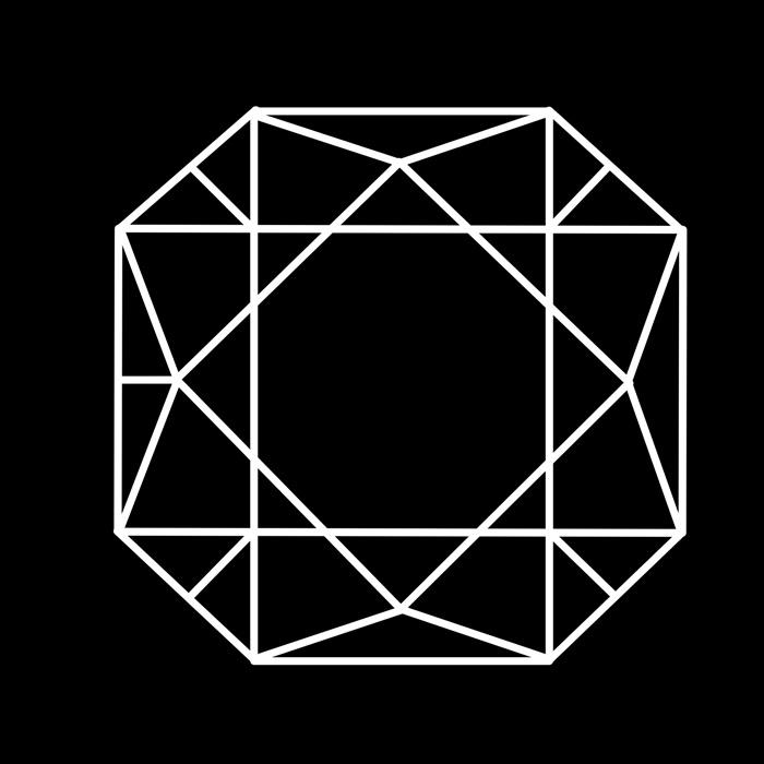 宝石の線画素材