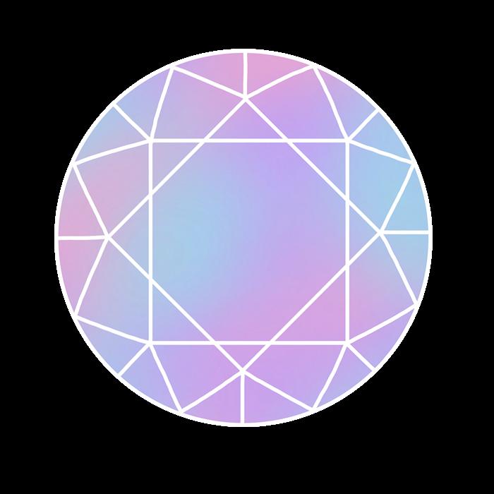 紫色の宝石のイラスト素材