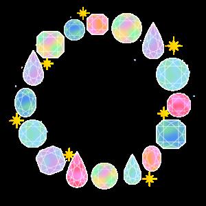 宝石のフレーム素材