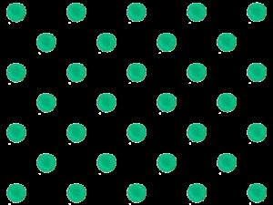 緑色の水玉のイラスト素材