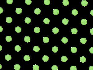 黄緑色の水玉の水彩イラスト素材