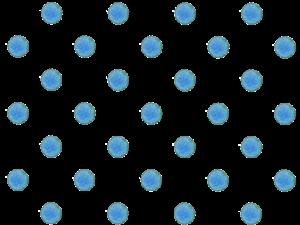 青色の水彩の水玉素材