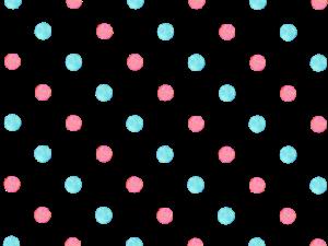 ピンクと水色の水玉素材