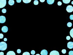 水玉のフレーム素材