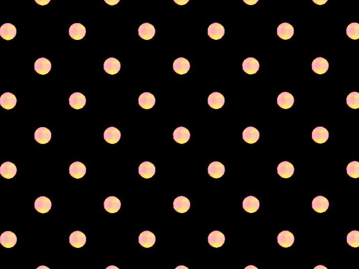 黄色の水玉模様の背景素材