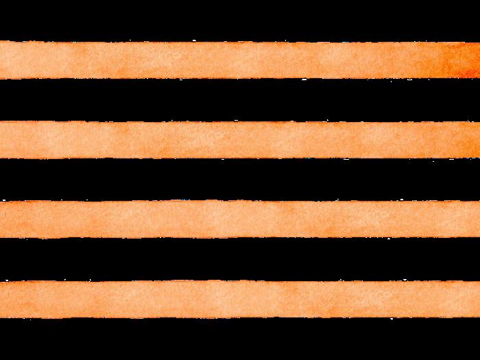 オレンジ色のボーダの水彩素材