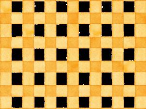 黄色のギンガムチェックの水彩素材