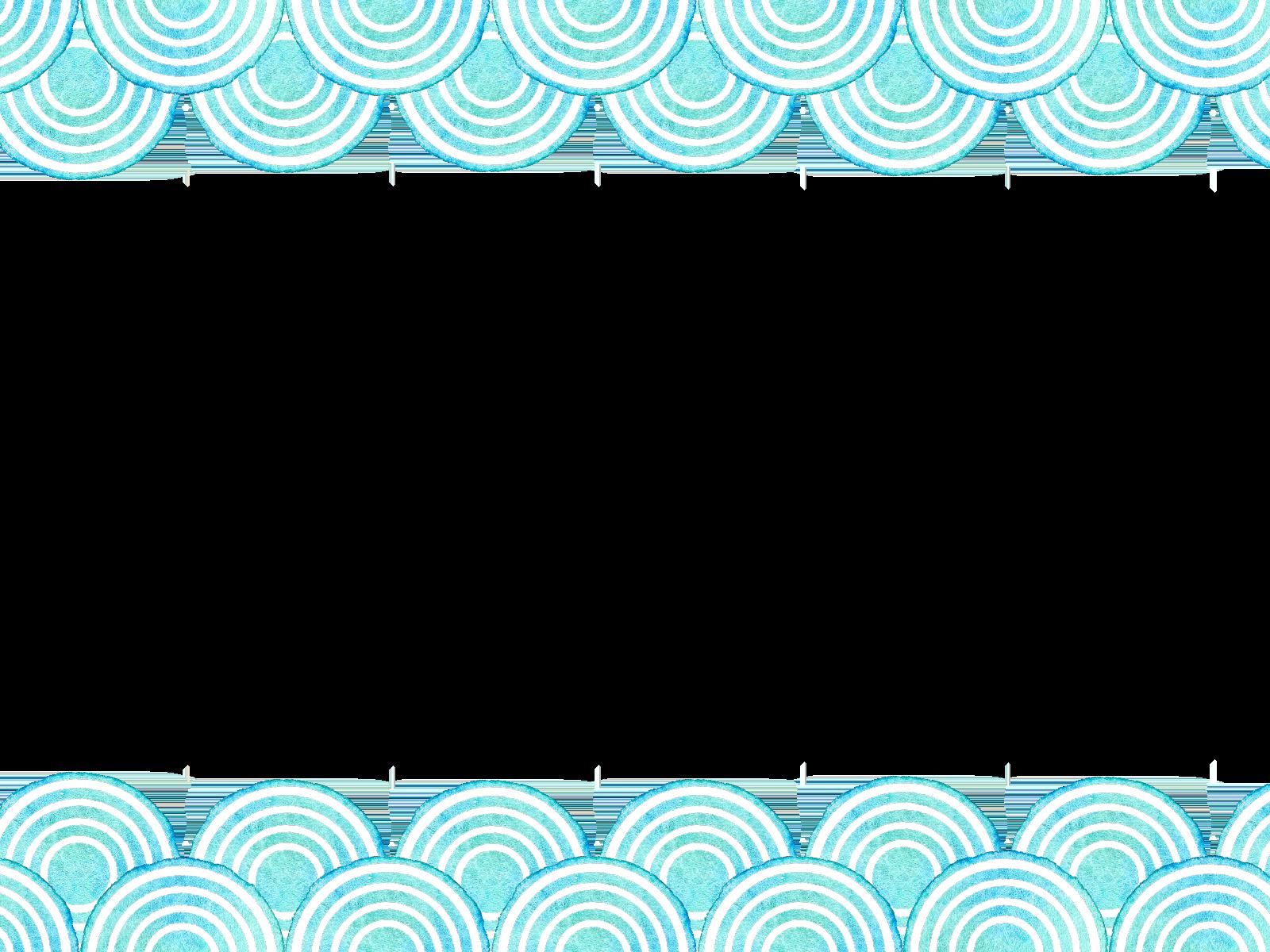 青海波の水彩素材