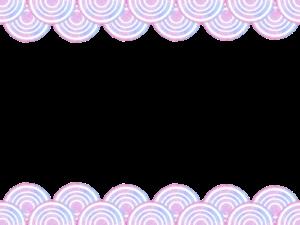 青海波の水彩フリー素材