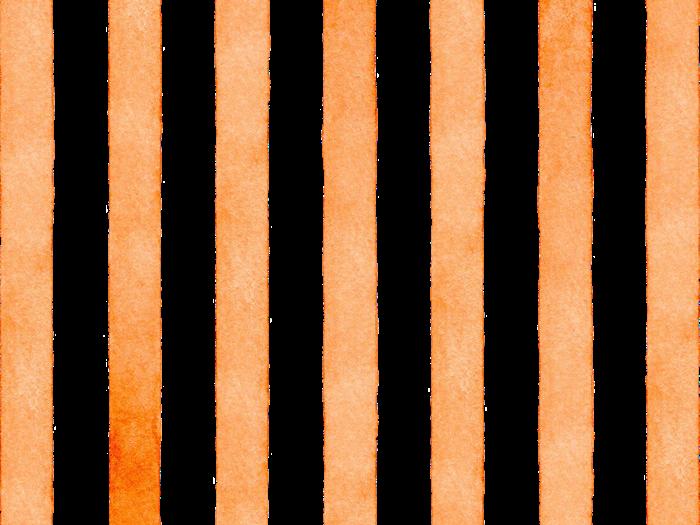オレンジのストライプの水彩素材