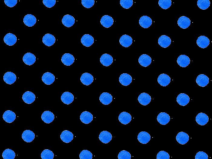 青色の水玉の水彩イラスト素材