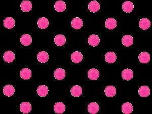ピンクの水玉の水彩イラスト素材