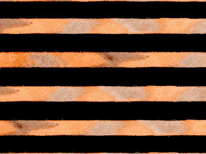 茶色とオレンジの水彩のボーダー素材