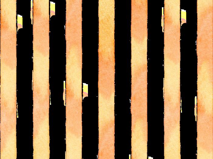 水彩のストライプ素材〈黄色×オレンジ色〉