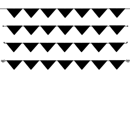 ガーランドの線画素材