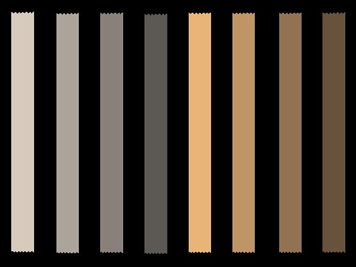 秋色のマスキングテープ素材