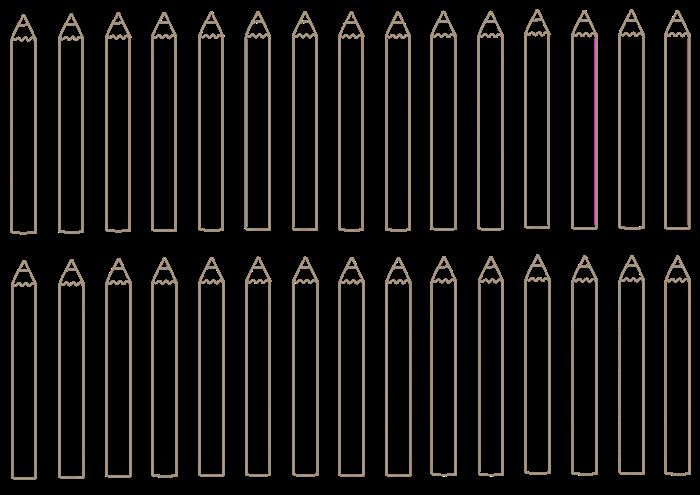 色鉛筆の線画素材