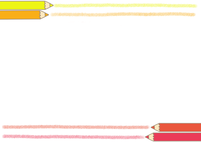 色鉛筆のフレーム素材