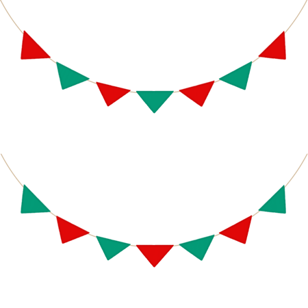 クリスマスカラーのガーランドの素材