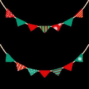クリスマスのガーランドのイラスト素材
