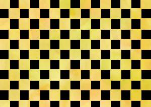 黄色の市松模様の素材
