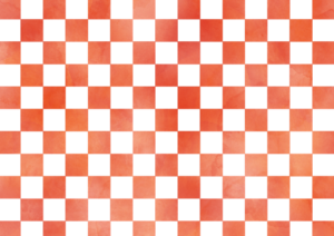 赤色の市松模様素材