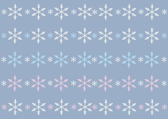 雪の結晶のライン素材