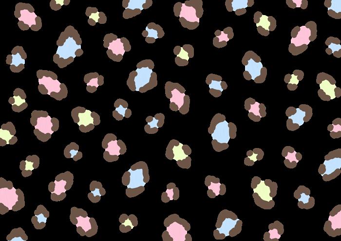 パステルカラーのヒョウ柄素材