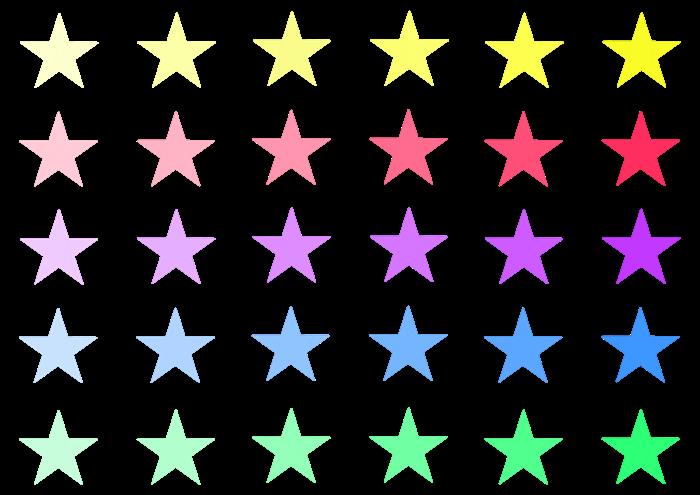 大きい星の素材セット
