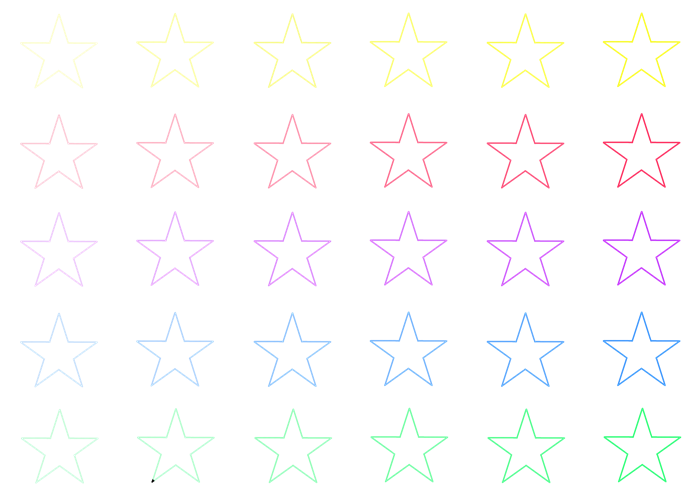 大きい星のイラスト素材