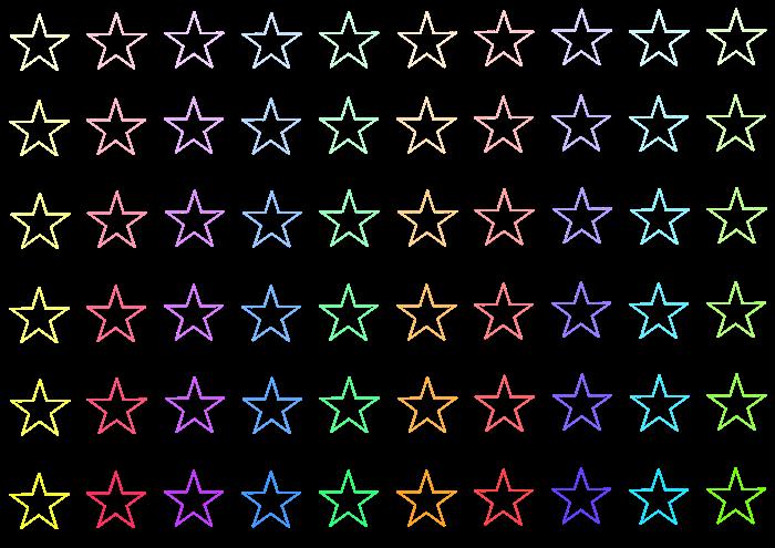 中サイズの星のイラスト素材