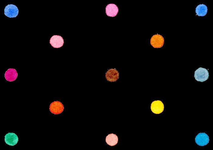カラフルな水彩の水玉素材