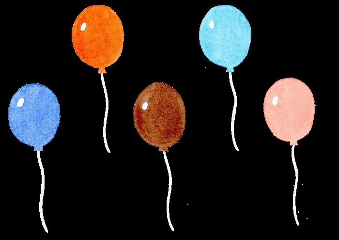 風船の水彩素材