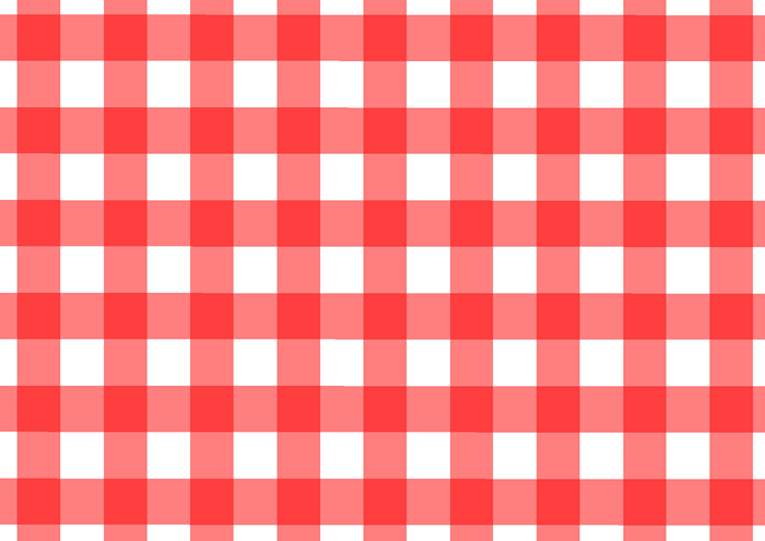 赤のギンガムチェックの素材