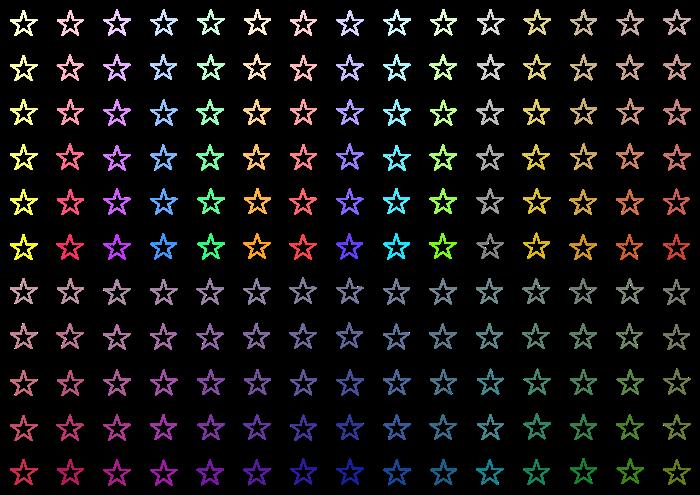 星のイラスト素材