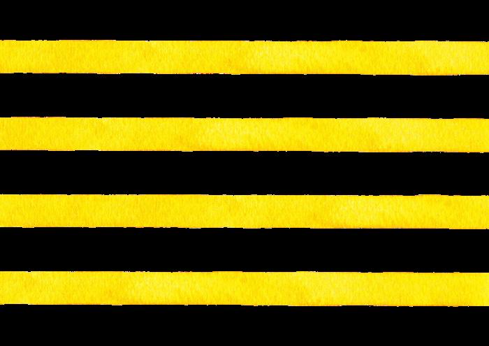水彩の黄色のボーダー素材