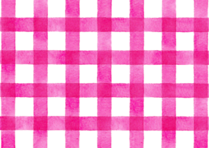 ピンクのギンガムチェックの水彩素材