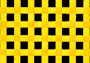 黄色の水彩ギンガムチェック素材