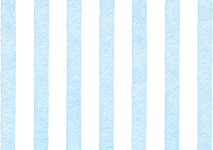 水色のストライプの水彩素材