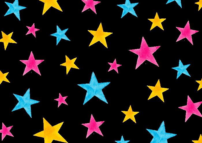 星の水彩イラスト素材