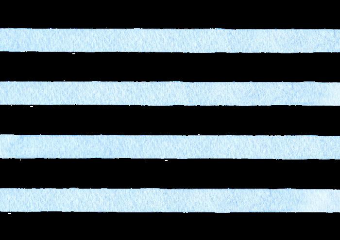 水色のボーダーの水彩素材