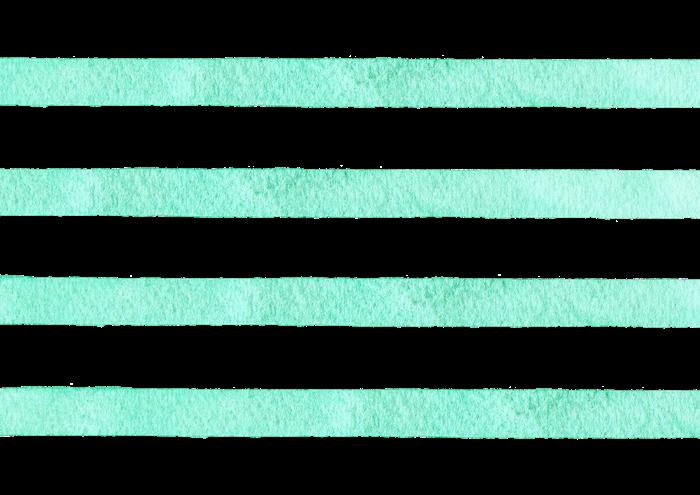 緑色のボーダーの水彩素材