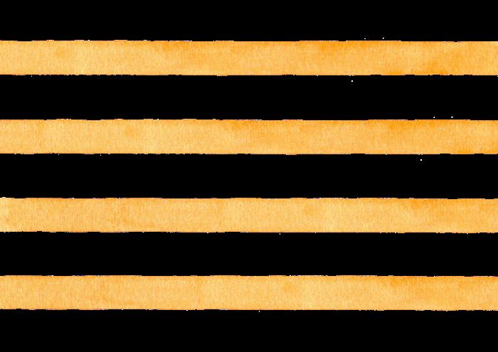 オレンジ色のボーダーの水彩素材