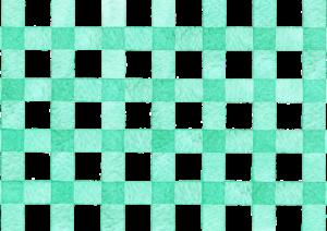 緑色ギンガムチェックの水彩素材