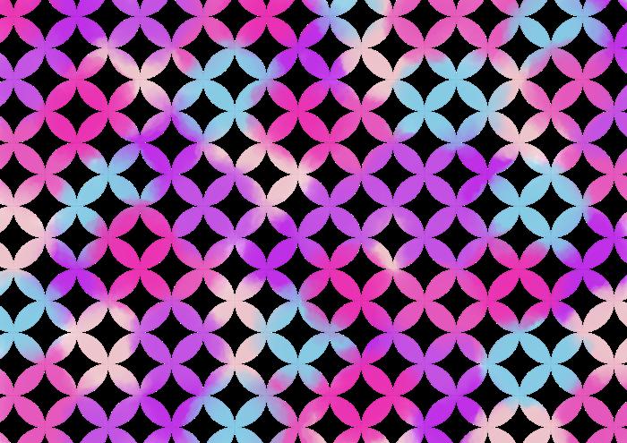 ピンクと紫の七宝の素材