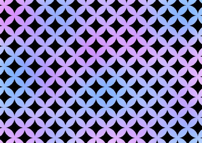 水色と紫の七宝の素材