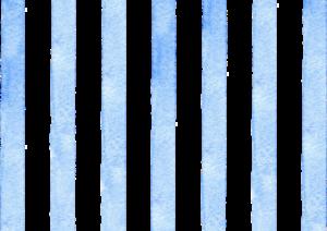 青のストライプの水彩素材