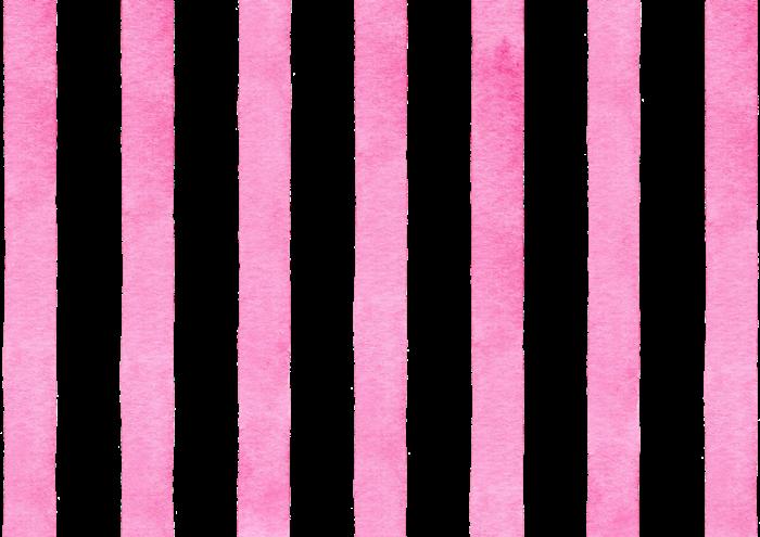 ピンクのストライプの水彩素材