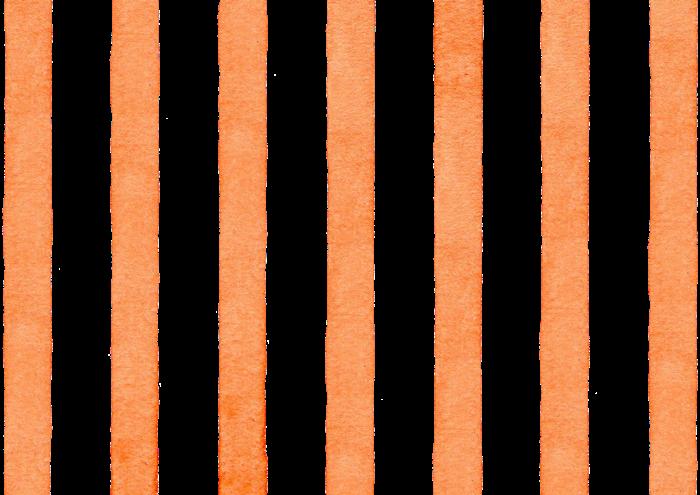 オレンジ色のストライプの水彩素材